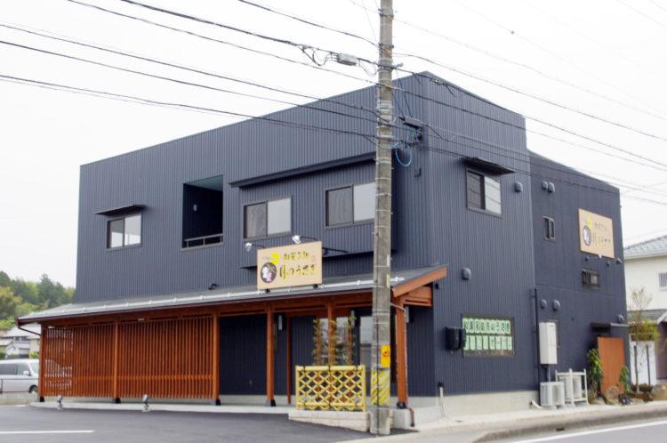 引き締まった印象ある外観の和菓子店 【岐阜県関市/施工事例】
