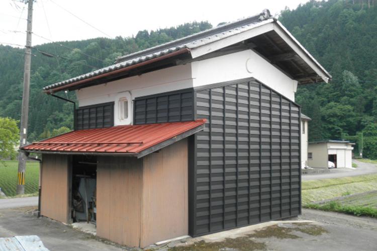 土蔵の改修工事