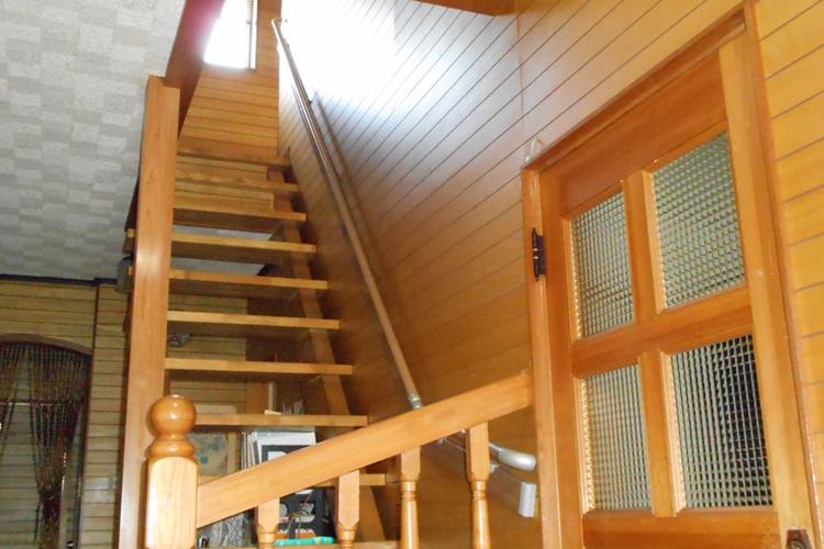 階段の手摺取付工事